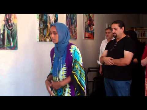 Imamah Jamila Ezzani Eid Prayer MPV-LA إمرأة تؤم المصلين